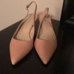 Franco Sarto pink leather sling back